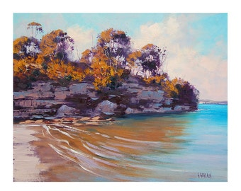 Sydney Harbour Painting Original Oil by Australian Artist G. Gercken