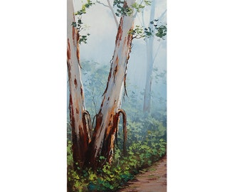 GUM TREES PAINTING Australian artwork landscape by G.Gercken
