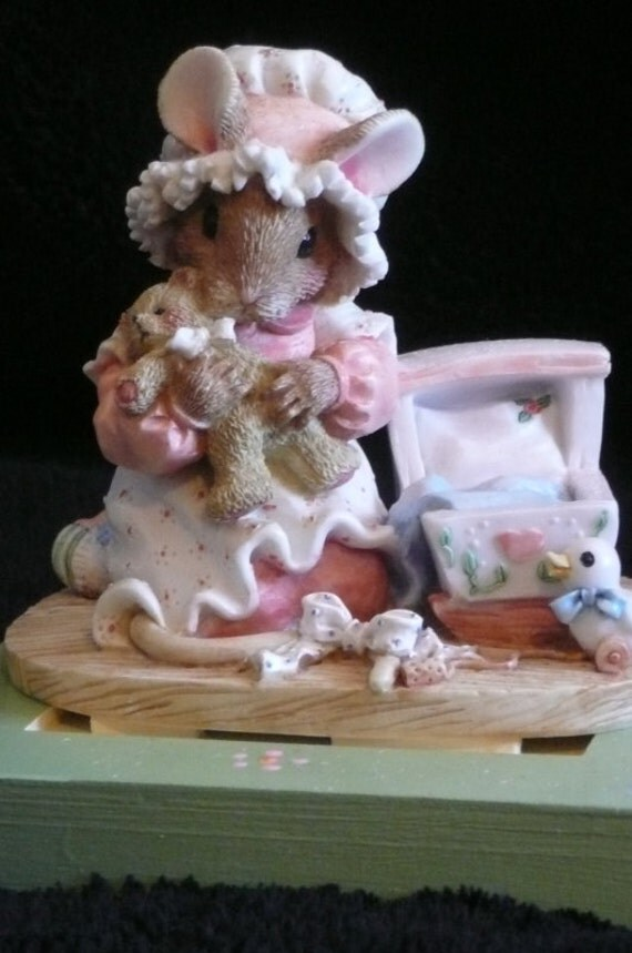 Special order for Mary R -A B C musical block with momma mouse