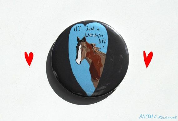 Pocket Mirror: Horse - Wonderful Life