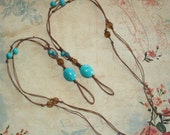 Barefoot Sandals - Foot Accessories - Turquoise and Brown