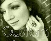 Custom Sunflower Earrings for Vivi