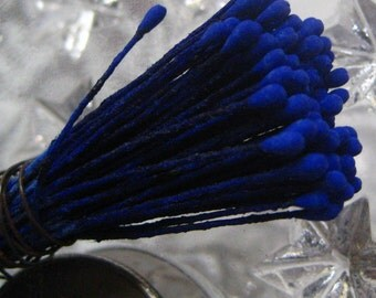 Millinery Flower Stamen Made In Germany Flower Peps 100 Stems Cobalt Blue  86-14