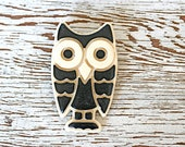 Hoot and Holler . . . Vintage Owl Brooch, Vintage Halloween Brooch