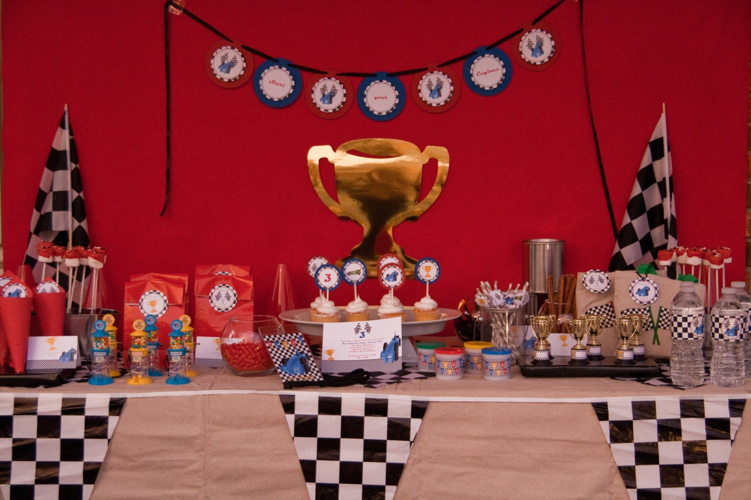 Race Car Birthday Party: Race Car Party For 12 Boy Cars Birthday By DanielleSealsEvents