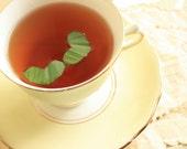 Tea Lover Photograph Photo - Heart, love, tea, beverage, delicate, hot, white, cream - Warm Cup of Love - 8 x 10 Fine Art Print