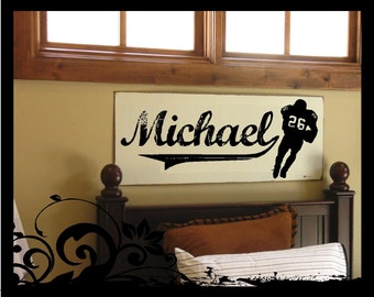 Personalized Football Player  - Vinyl Decal