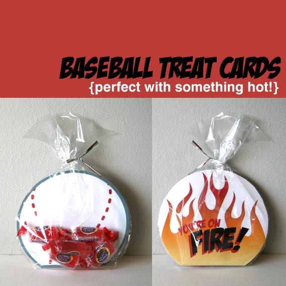 Printable Baseball Cards - You're on Fire