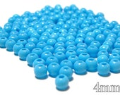 4mm Smooth Round Acrylic Beads in Cornflower blue 200 beads