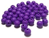 8mm Smooth Round Acrylic Beads in Purple Grape 50 beads