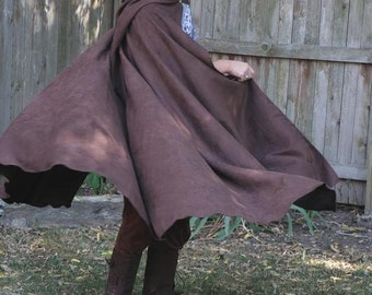 Traveler / Fellowship Dark Brown Microsuede  Micro Suede Cloak