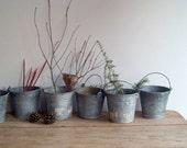 Vintage Galvanized Buckets