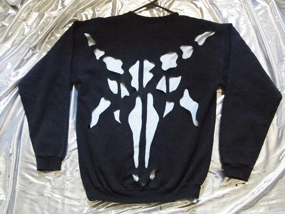 BAPHOMET// Cut Out Oversized Sweatshirt, Satanic & Stylish ALL SIZE