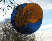 Harvest Moon Stained Glass Suncatcher