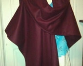 Wool Celtic Ruana Shawl Custom Color SCA Renaissance LARP Medieval Coat Cloak Shawl
