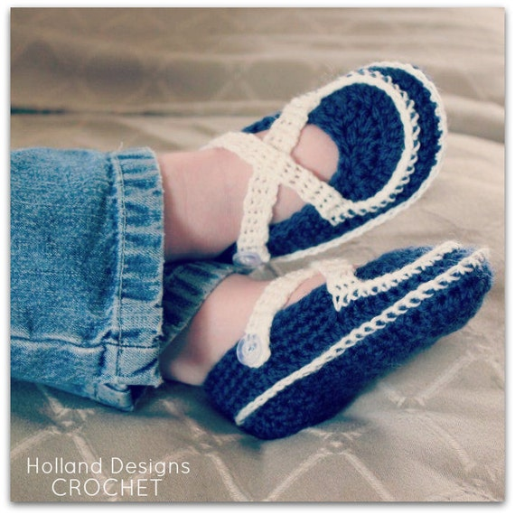 Download Now - CROCHET PATTERN Criss-Cross Mary Janes - 0-18 mos - Pattern PDF