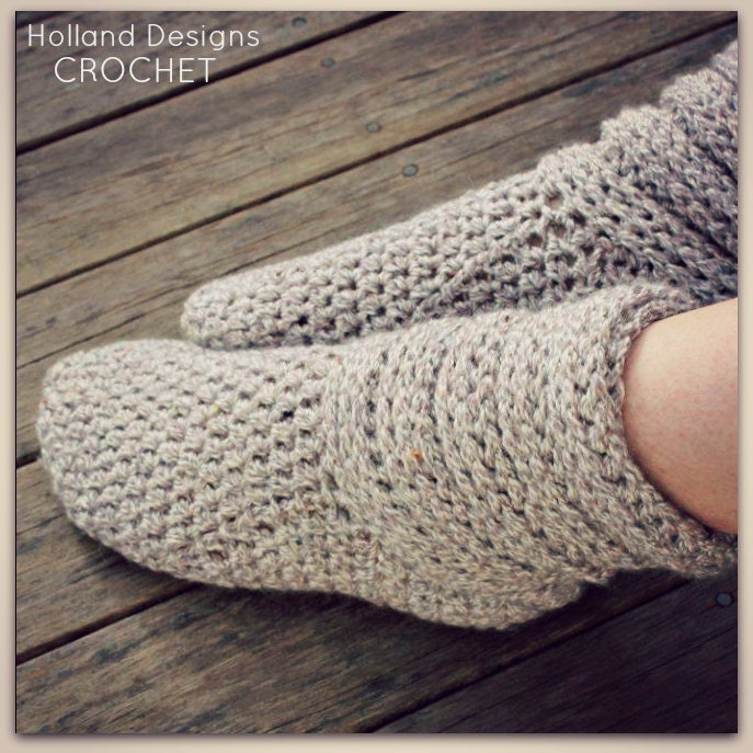 Slouch Socks Knitting Pattern : Download Now CROCHET PATTERN Ladies Slouch Boots All Sizes