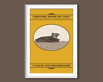 Movie poster O Brother, Where Art Thou 12x18 inches retro print