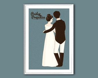 Pride and Prejudice 12x18 inches retro print