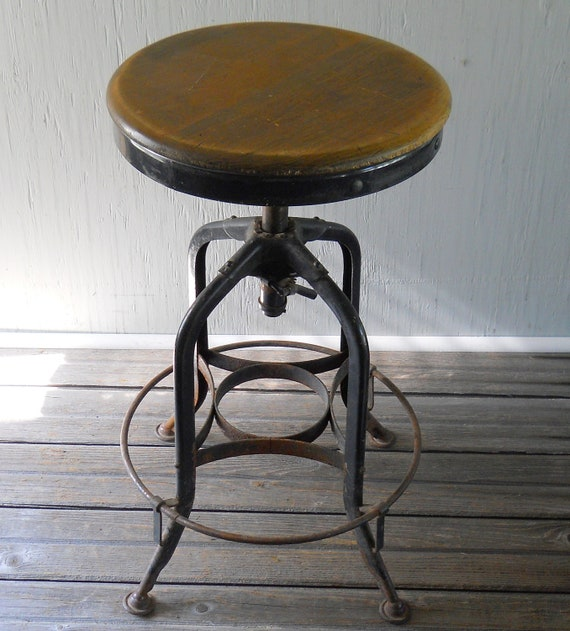 Vintage Drafting Stool Toledo Metal Furniture Company