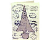 Christmas Cards - Linen Tree
