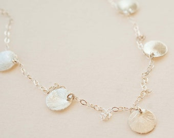 Sterling Silver Disc Charm Necklace