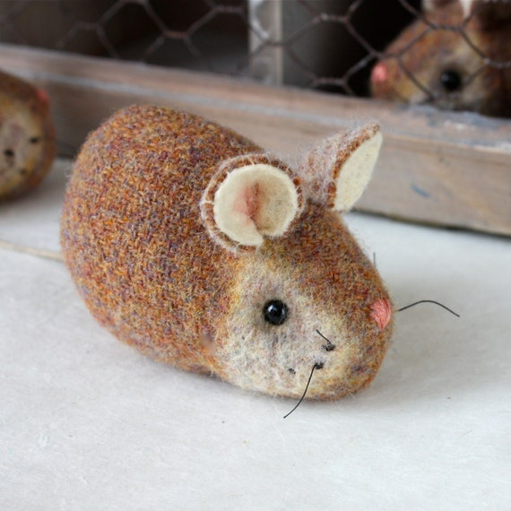 Mouse Plush Wool - Pocket Mouse - Ginger Cream