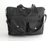Sale - Water Resistant Nylon All purpose Bag, shoulder bag, tote, zipper closure, handbag - Claire
