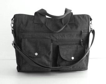 Sale - Water Resistant Nylon All purpose Bag, shoulder bag, tote, crossbody bag, diaper bag, zipper closure, handbag - Claire
