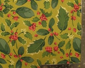 Martha Negley collection Poinsettias and Holly for Rowan 35 Holly Mix Gold OOP