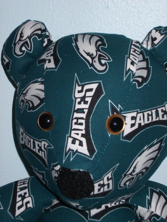 Teddy Bear Eagles Philidelphia Football NFL Gold Eyes Sports Team Mascot
