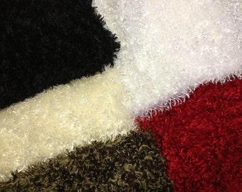 Make the Season Bright Scarves - Cozy Scarf, Winter Scarf, Fluffy Scarf - White, Off White, Brown, Black