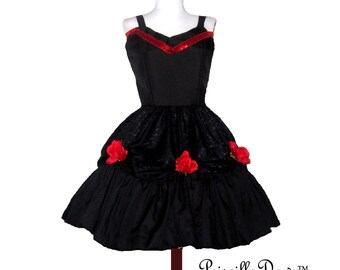 Painted the Roses Red Valentines Dress Custom in Your size