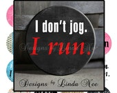 PINback BUTTON Images 1.5 inch round 1.837 overall size - I Love to Run Digital Collage Sheet AMERICAN BUTTON Machine Tecre