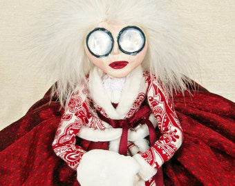 Mrs Claus - Christmas Art Doll