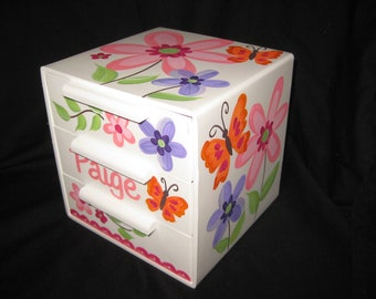 jewelry box bow holder paige orange butterfly