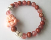 RESERVED 10 Laughing Buddha Bracelets  in various  colors and stones