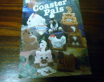 Coasters Plastic Canvas Patterns Coaster Pals Needlecraft Shop 913309 Pattern Leaflet