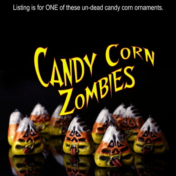 RESERVED for Nancy, 9 candy corn zombies