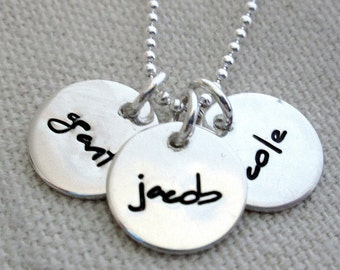 Hand Stamped Mothers Necklace - Personalized Jewelry - Mom Necklace