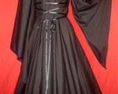 VAMPIRE - Ready to Mail - Plus Size Black Gothic Witch Fantasy Dress Gown Costume 3X