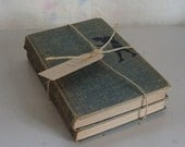 Vintage Nancy Drew book bundle 2 blue tweed cover