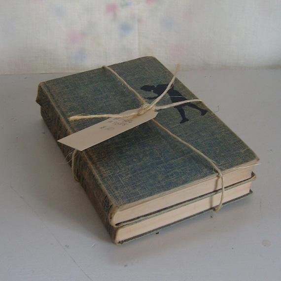 Vintage Nancy Drew book bundle 2 blue tweed cover