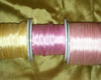 Pastel 7mm Silk ribbon combo pack  25 yards