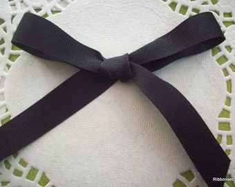 "5/8"" Wide Black Grosgrain Ribbon 2 yards"