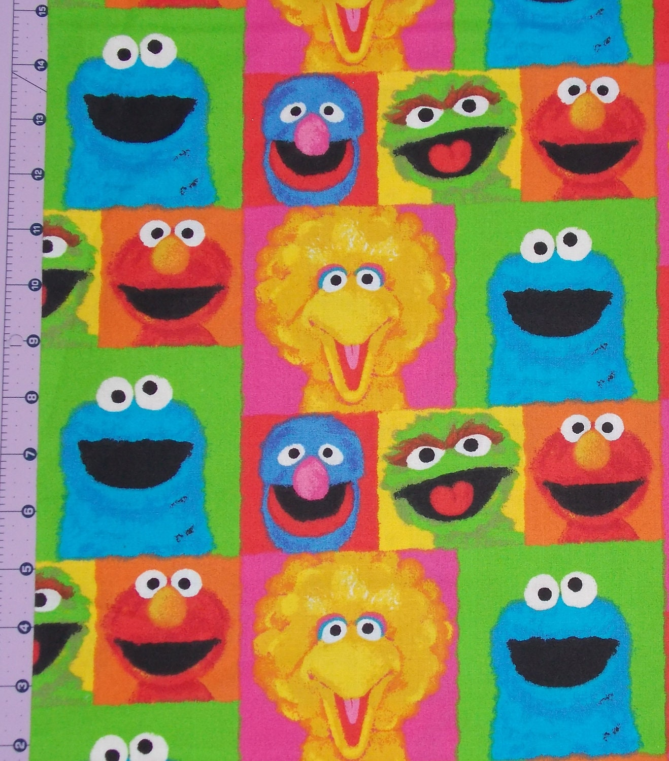 Sesame Street Watercolor Fabric By The Yard