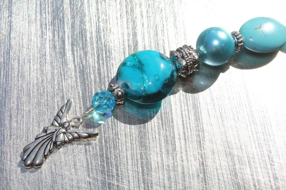 Turquoise Guardian Angel Ornament
