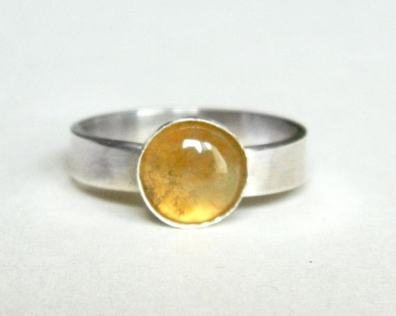 fancy jasper sterling silver ring green yellow red