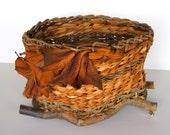 Nature Basket in EarthTones with Embellishments OOAK