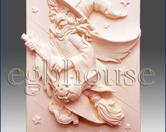 2D Silicone Soap Mold - Whatta Witch